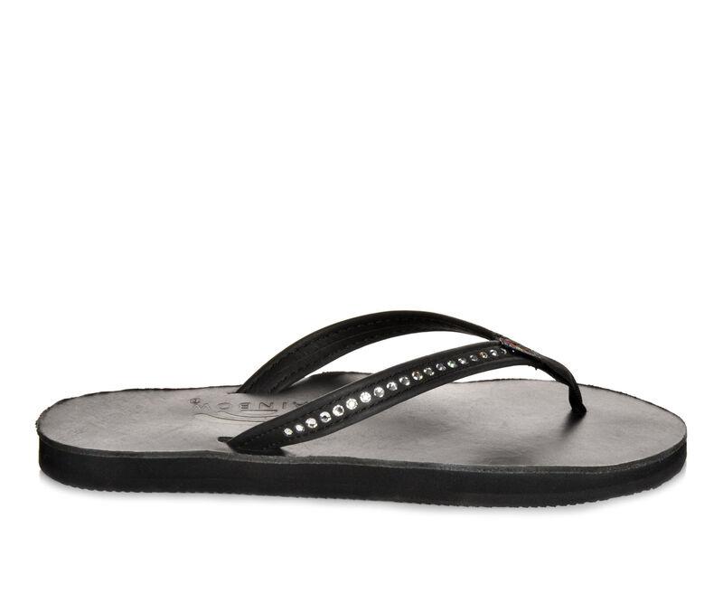 Women's Rainbow Sandals Leather w/ Swarovski Crystals -401ALTSN