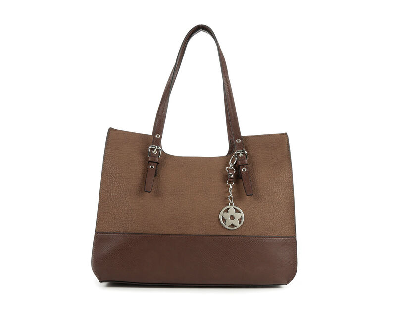 Image of Women's Bueno Of California Grained Pebble Tote (Brown - Size UNSZ)
