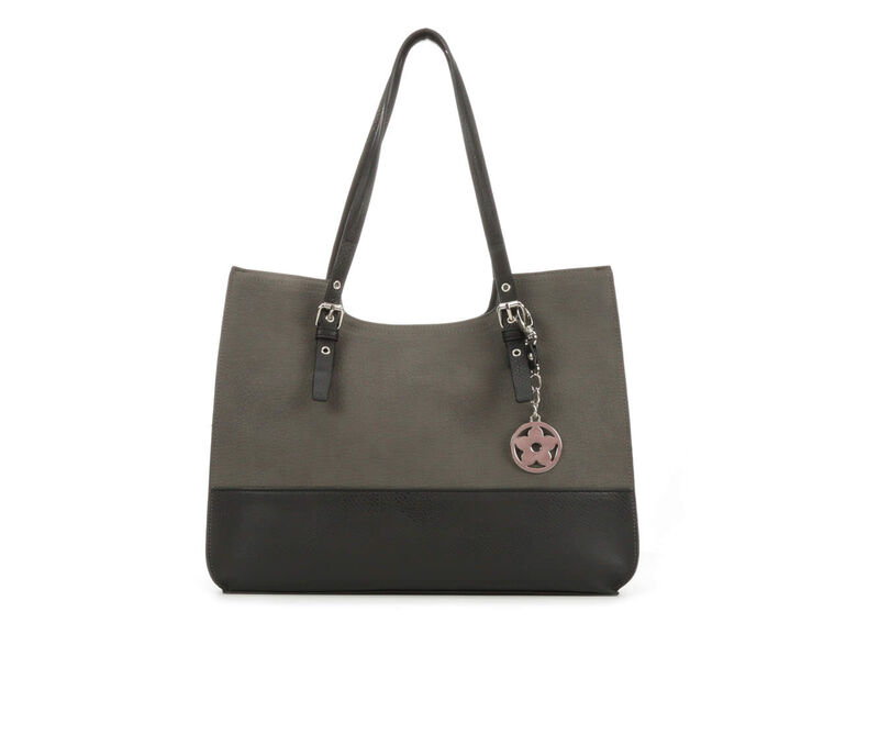 Image of Women's Bueno Of California Grained Pebble Tote (Grey - Size UNSZ)