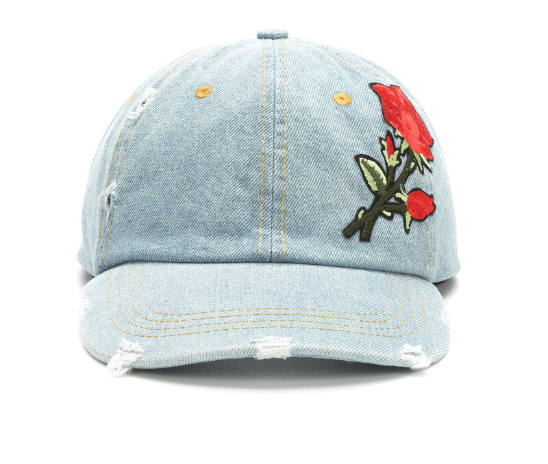 Image of Women's David and Young Denim Patch Baseball Cap (Blue - Size UNSZ)