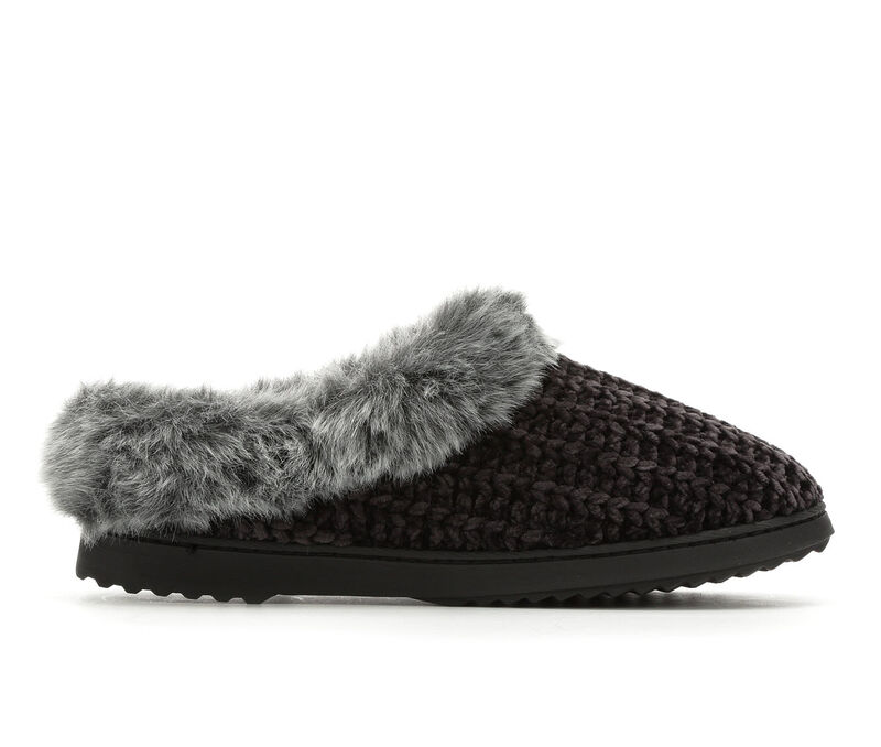Image of Women's Dearfoams Chenille Knit Clog (Black - Size M- )