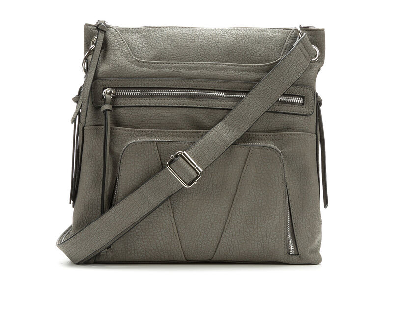 Image of Women's Bueno Of California Grained Pebble Crossbody (Grey - Size UNSZ)