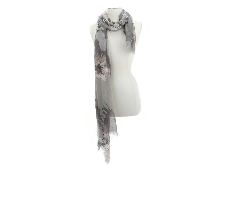 Image of Women's Cejon Accessories Jumbo Poppies Day Wrap (Grey - Size UNSZ)