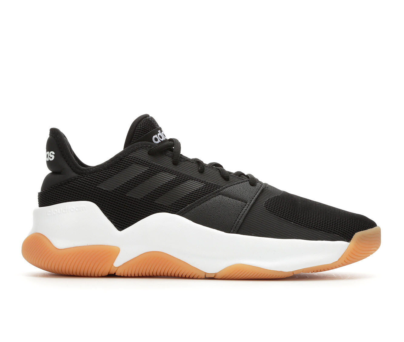 Men's Adidas Streetflow Basketball Shoes Blk/Wht/Gum