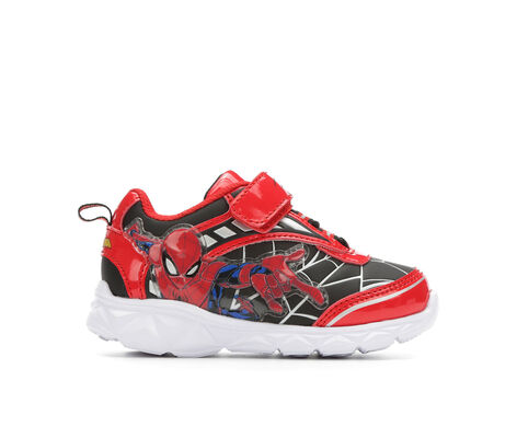 Boys' Marvel Spiderman Webs 4 Light-Up Velcro Sneakers