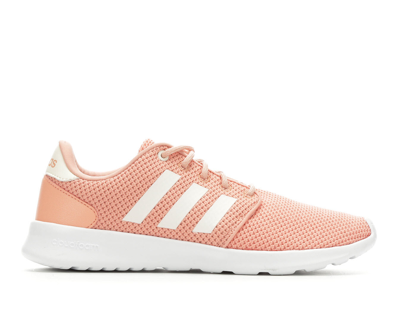 new style Women's Adidas Cloudfoam QT Racer Sneakers Dust Pink/White