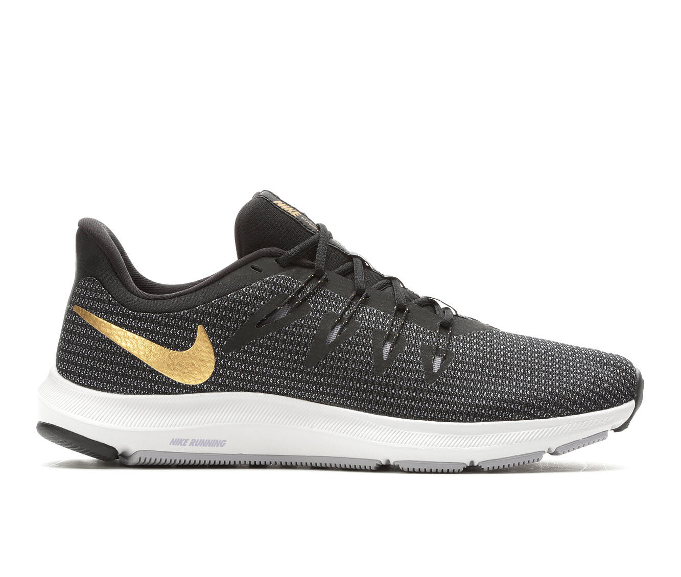 Adorable Women's Nike Quest Running Shoes Black/Gld/Smoke