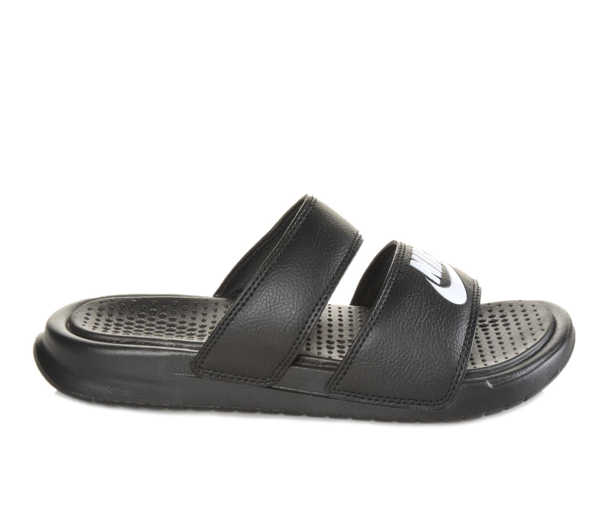 Women's Nike Benassi Duo Slide Sandals Black/White