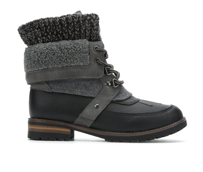 Women's Rock And Candy Danilyn Sweater Cuff Lace-Up Boots
