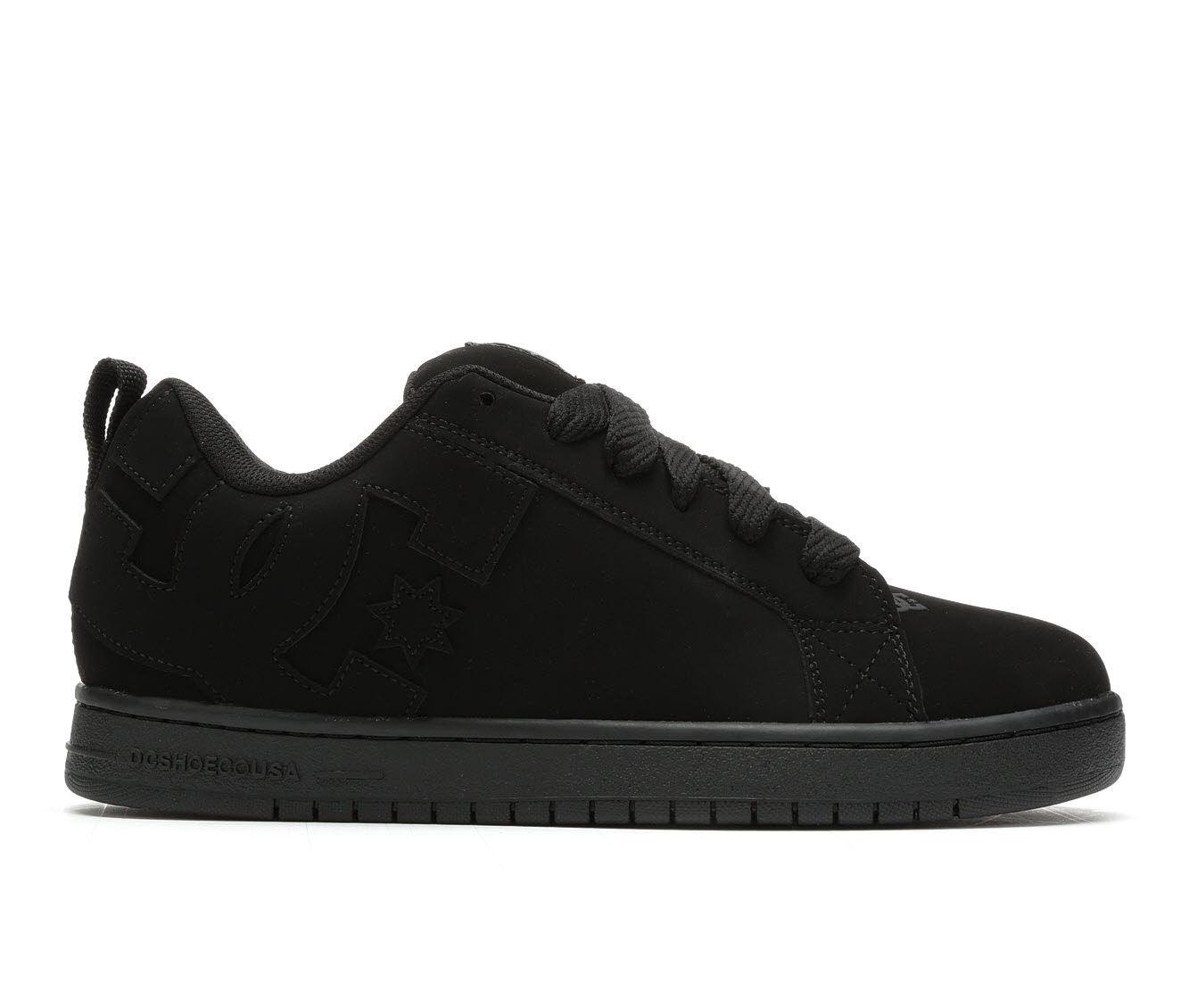 Men's DC Court Graffik Skate Shoes Black/Black