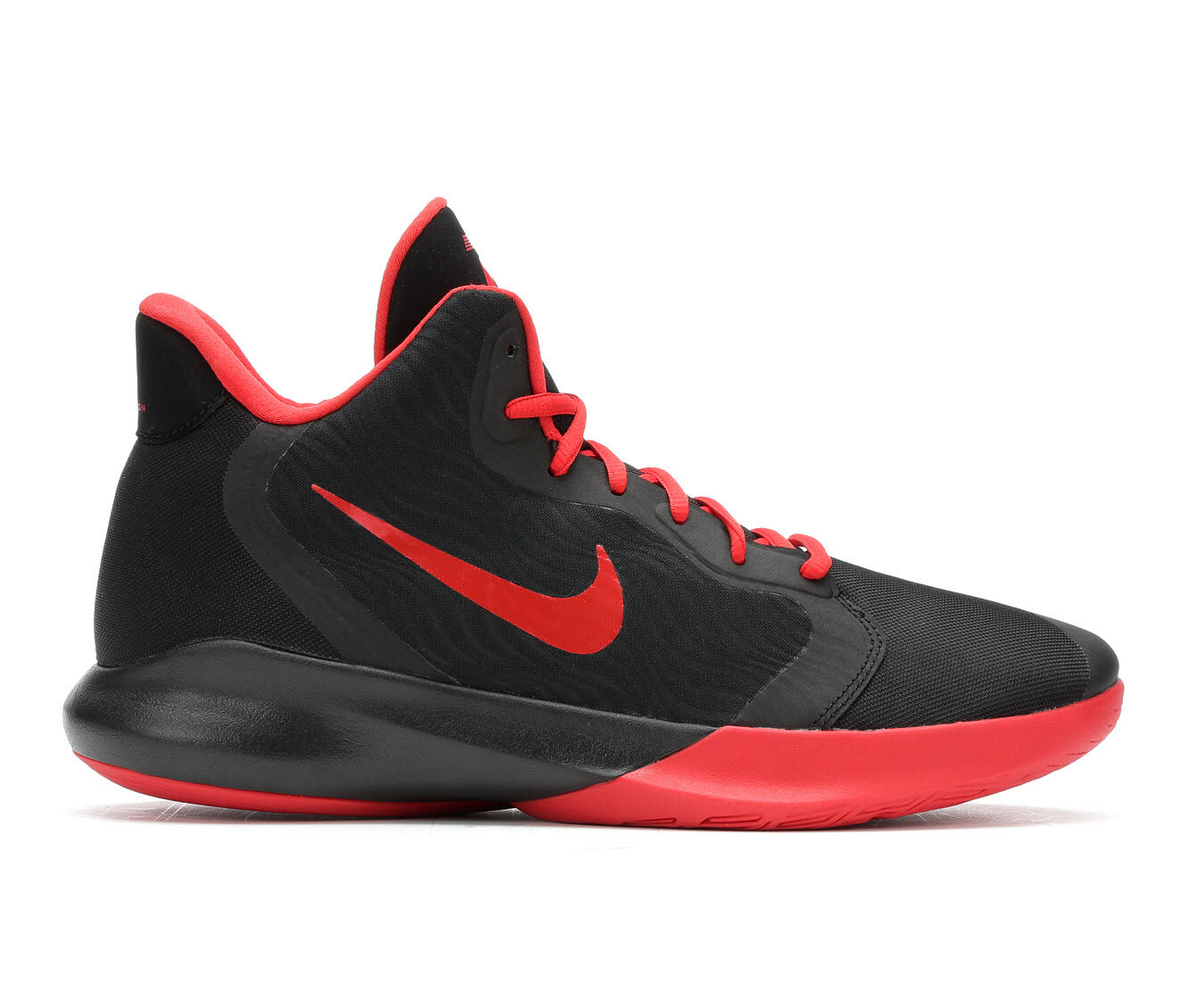 Factory Outlet Men's Nike Precision III Basketball Shoes Blk/Red/Wht 001