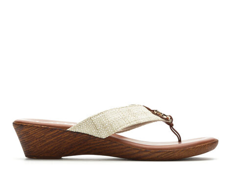 Women's Italian Shoemakers Ely Wedge Flip-Flops