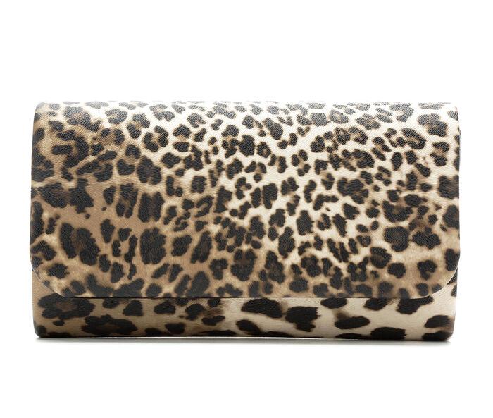Four Seasons Handbags Animal Print Clutch