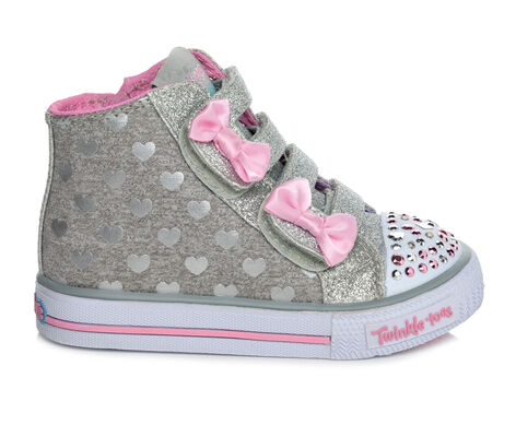 Girls' Skechers Infant Doodle Days 5-12 High Top Light-Up Sneakers