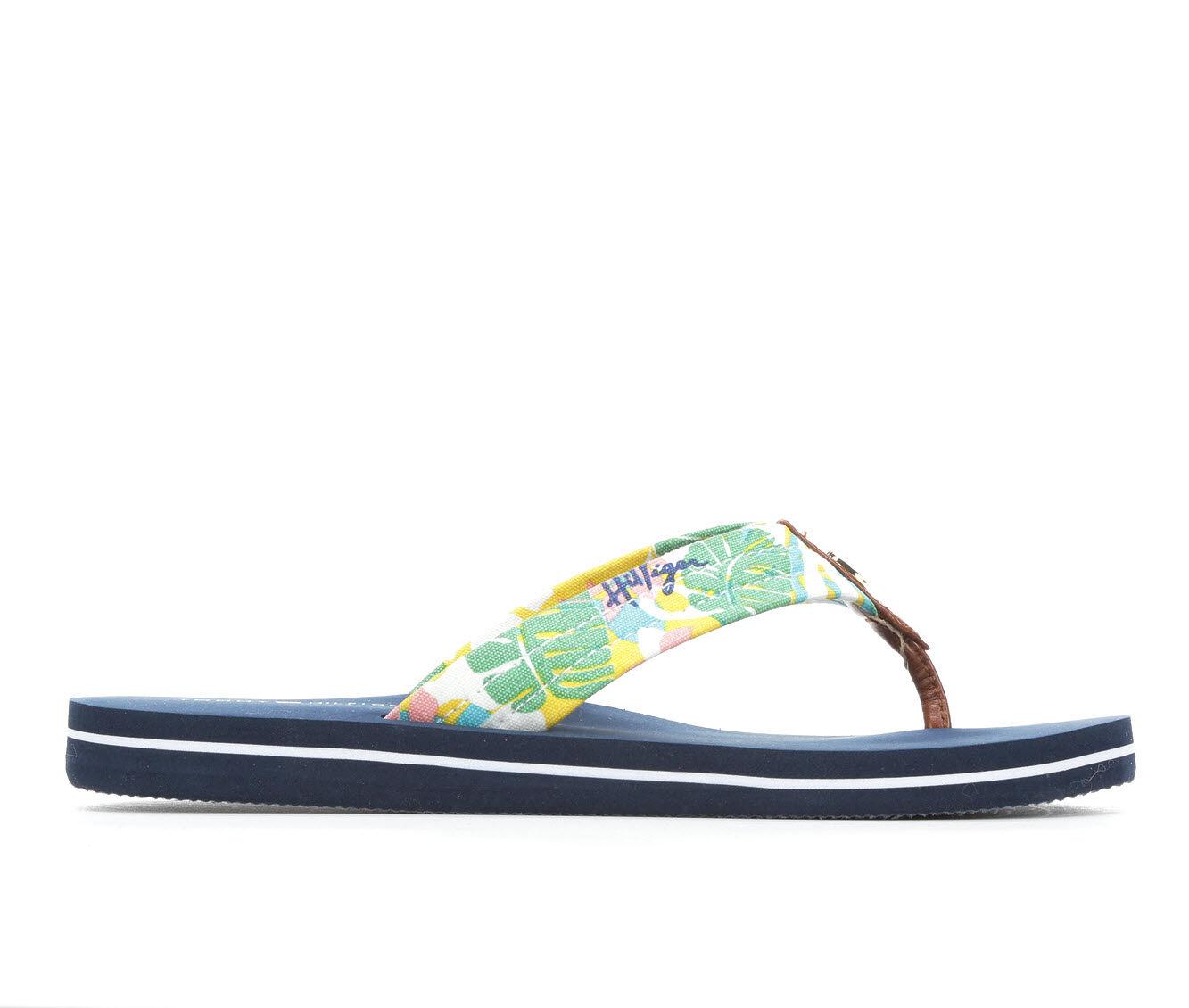 discount Women's Tommy Hilfiger Cinta Flip-Flops Yellow Multi