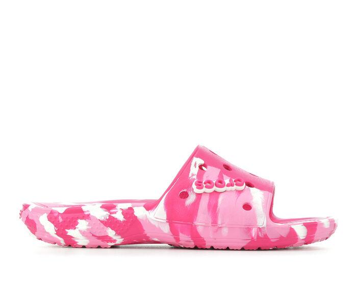Adults' Crocs Classic Marbled Slide Sandals