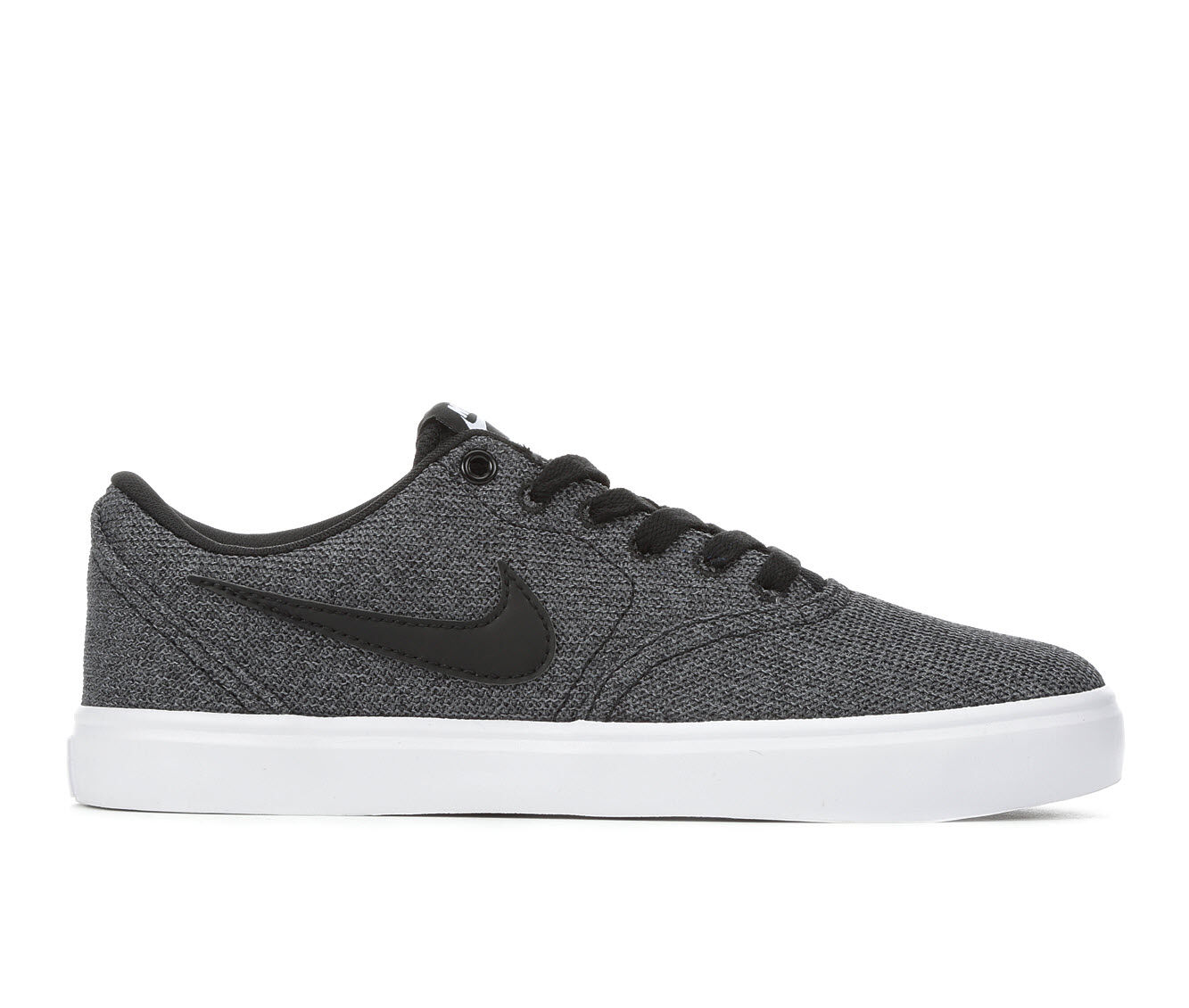 Special Offer Women's Nike Solar Check Canvas Prem Skate Shoes Black/Grey/Wht