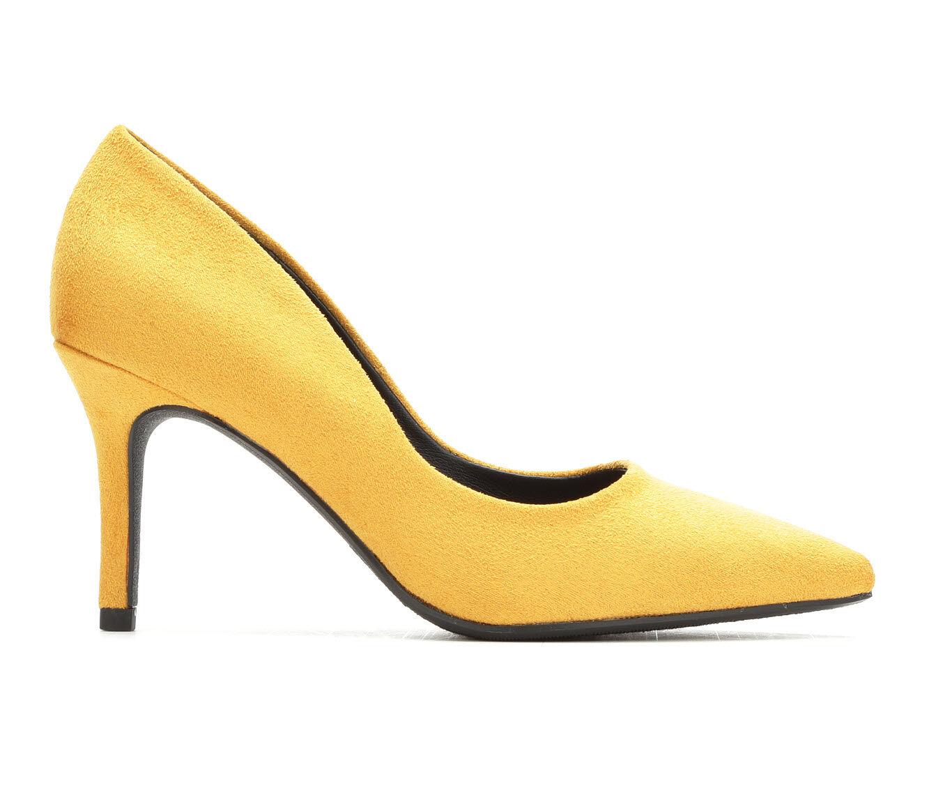 Well-design Women's Y-Not Kambo Pumps Mustard Micro