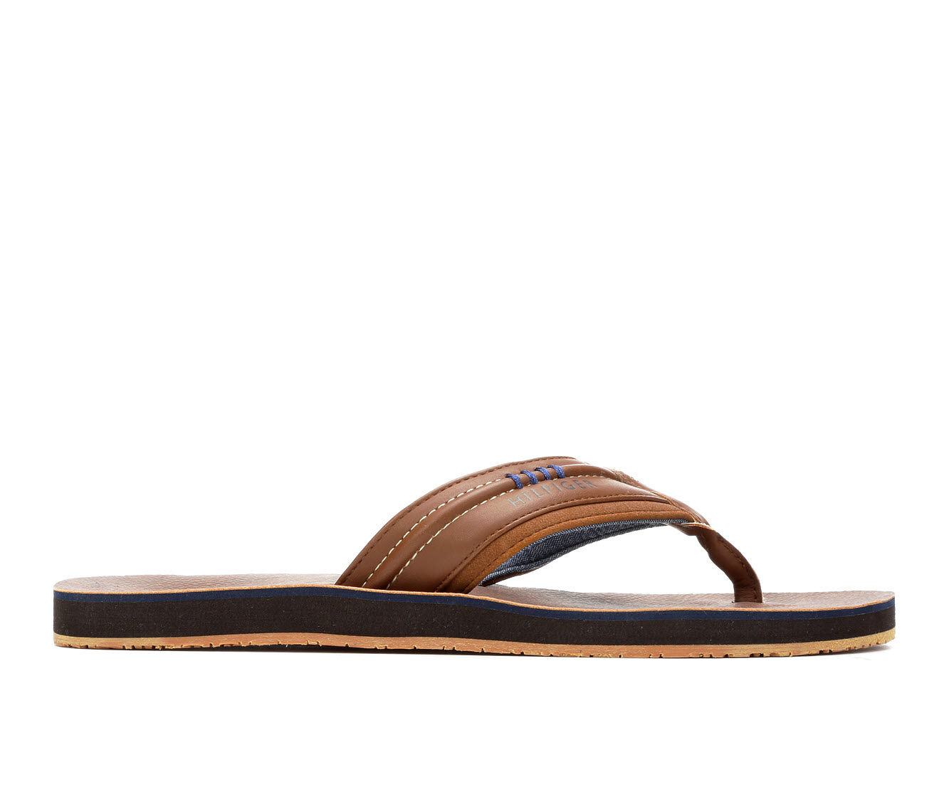 all styles Men's Tommy Hilfiger Dozer Flip-Flops Cognac
