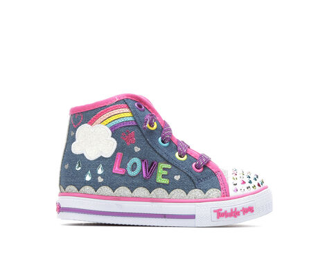 Girls' Skechers Sparkle Skies 5-10 Light-Up Denim Sneakers