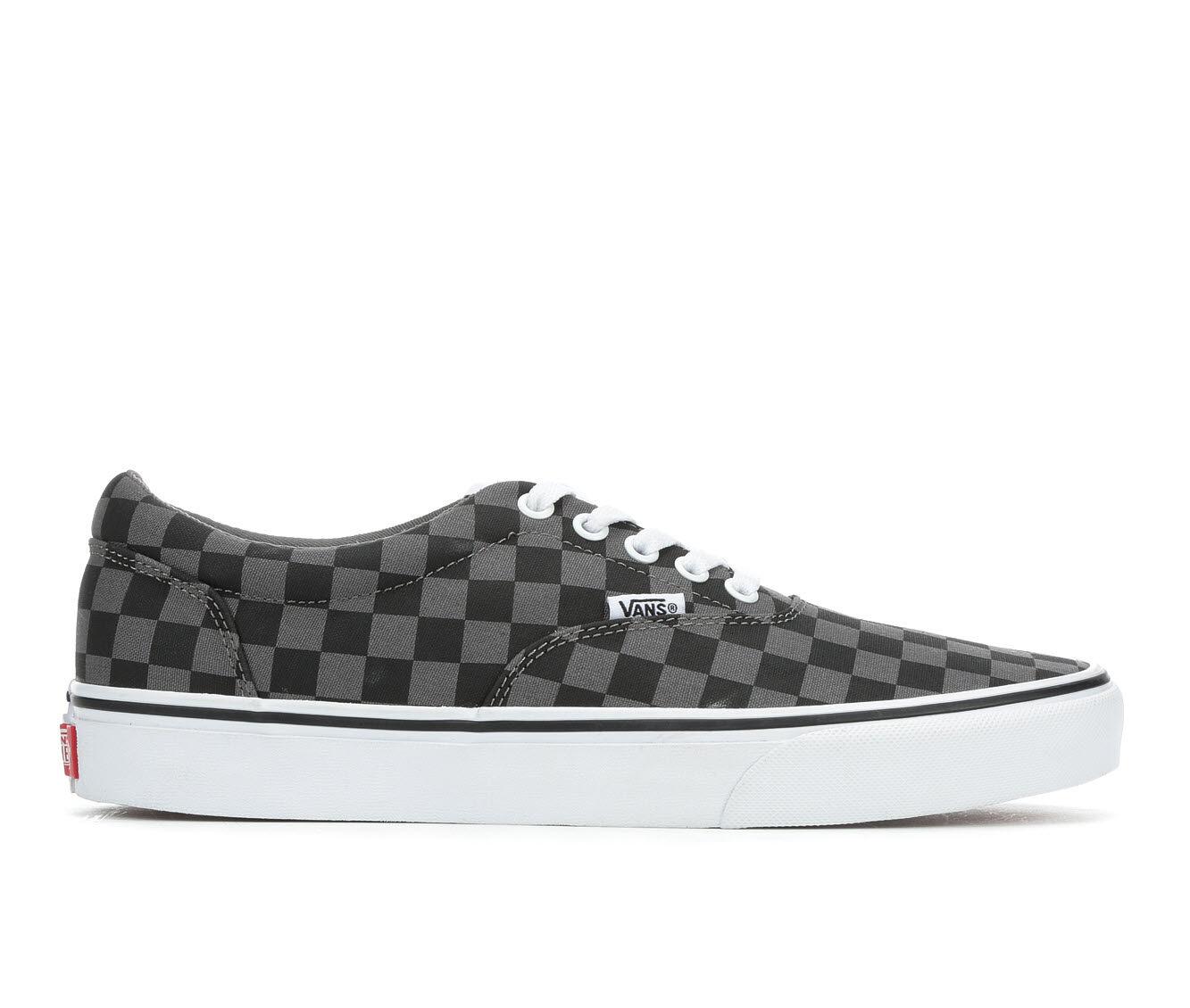 Buy Cheap Men's Vans Doheny Skate Shoes Black/Grey Chec