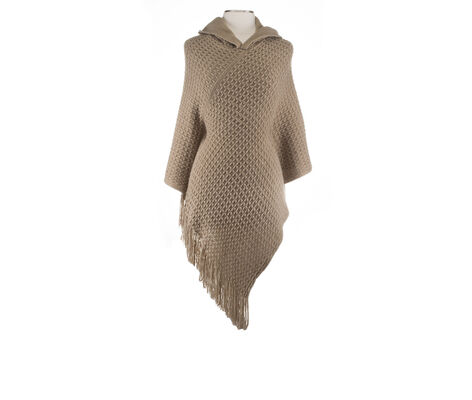 Rampage Hooded Cable Poncho