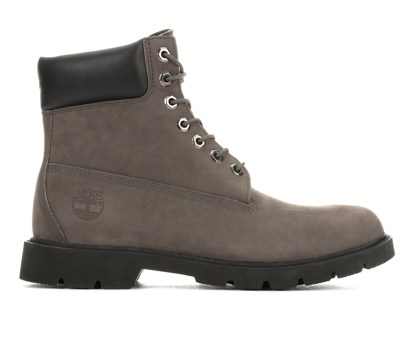Men's Timberland 6 Inch Padded Collar Boots Grey