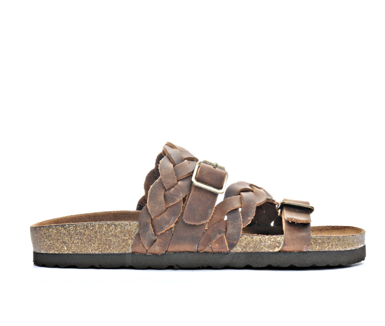 Women's White Mountain Holland Strappy Footbed Sandals Brown