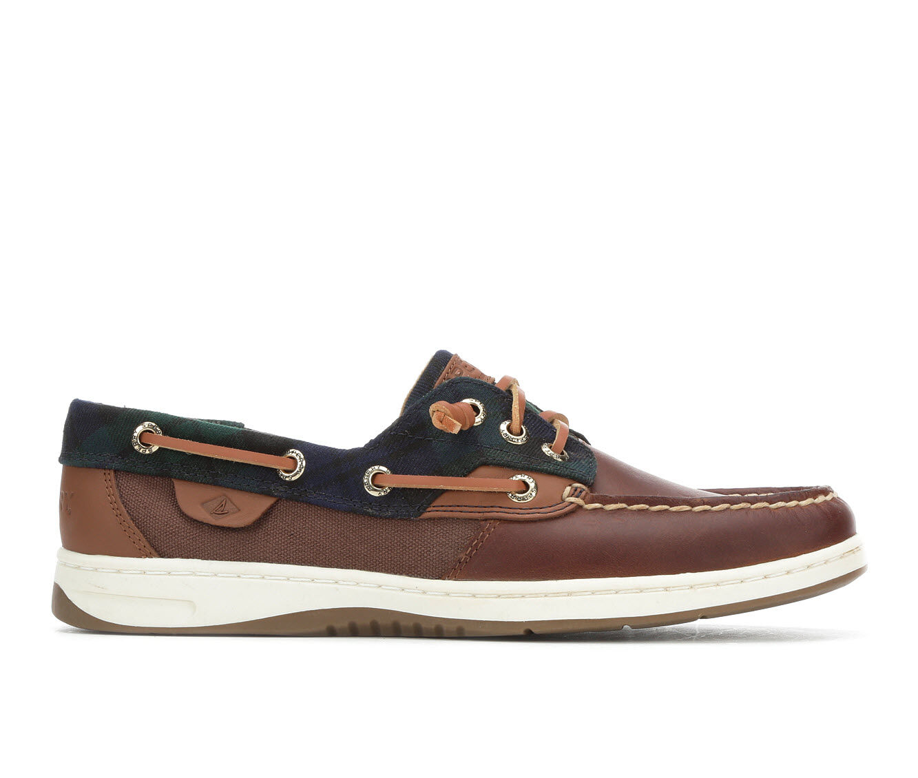 Women's Sperry Rosefish Plaid Boat Shoes Dk Brown/Navy
