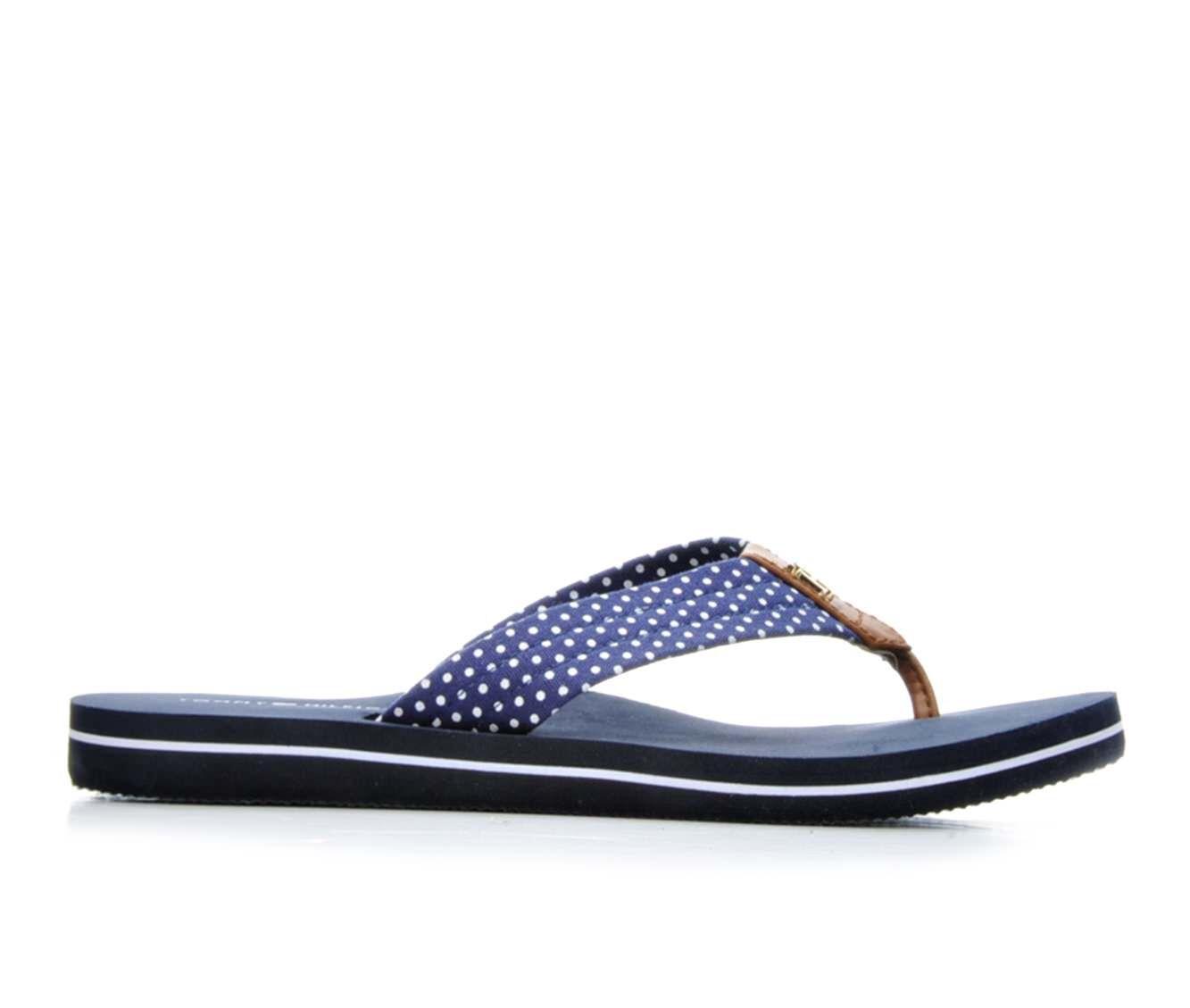 Women's Tommy Hilfiger Candis Flip-Flops Navy/White