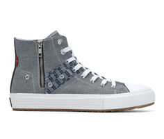 Men's Levis Zip Ex Monogram High-Top Casual Shoes