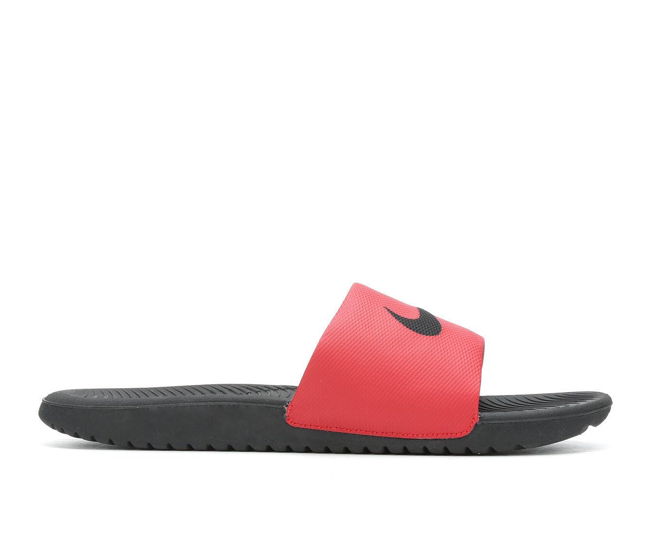 Men's Nike Kawa Slide Sport Slides Black/Univ Red