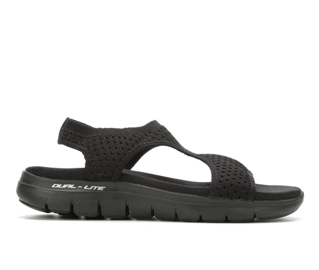 Women's Skechers Cali Flex Appeal Hiking Sandals Black