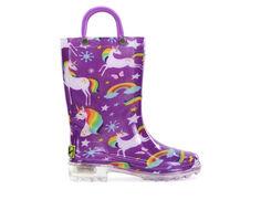 Western Chief Infant Rainbow Unicorn Lighted Boot 5-10 Rain Boots