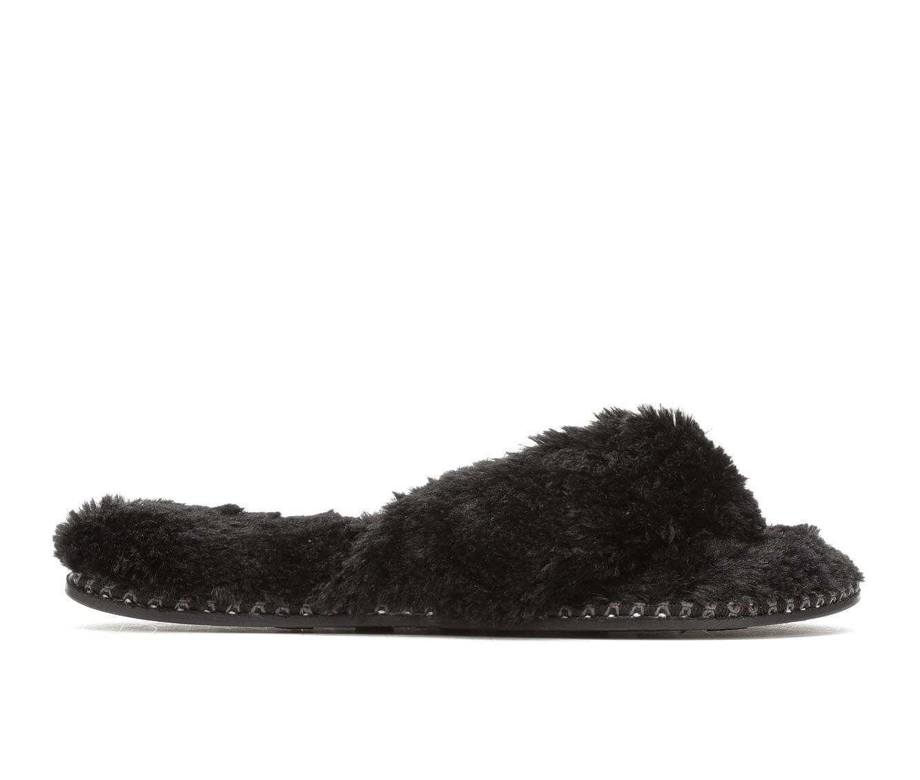 Dearfoams Pile Thong Woven Black
