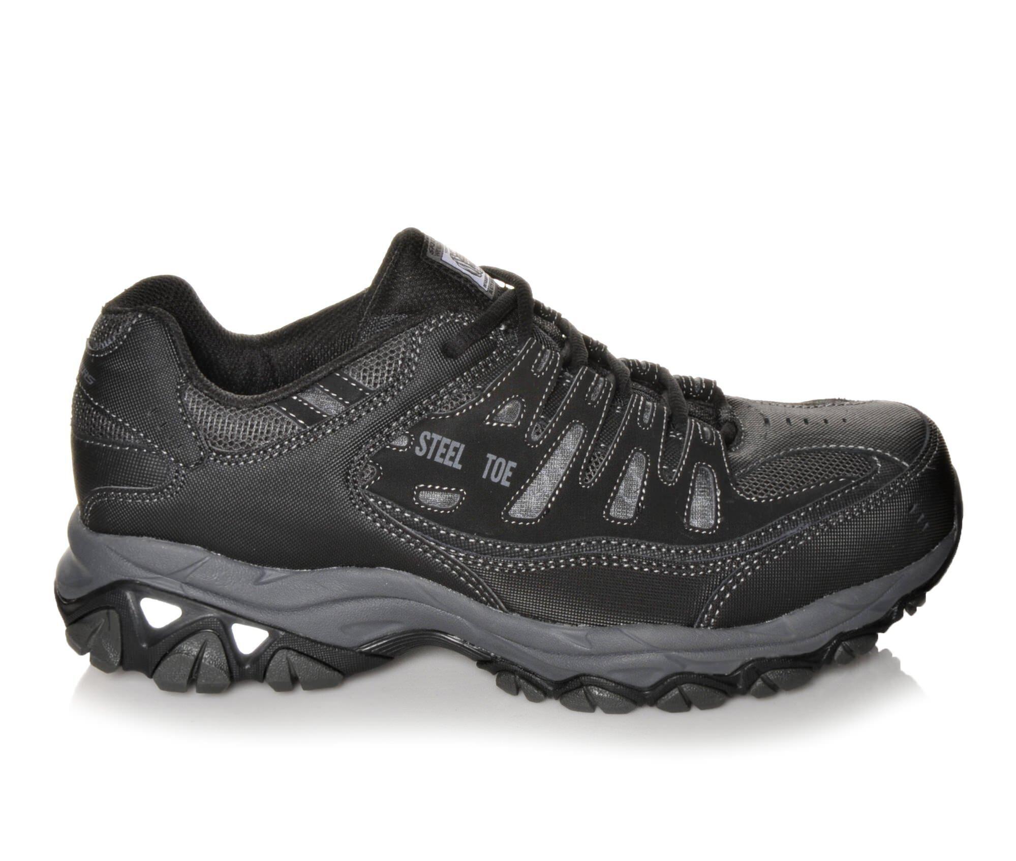 Men's Skechers Work 77055 Cankton Steel Toe Work Shoes Black/Charcoal