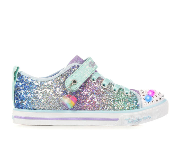 Girls' Skechers Little Kid Sparkle Sequins So Bright Twinkle Toes Light-Up Sneakers