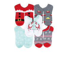 Apara Holiday No Show 5 Pair Socks
