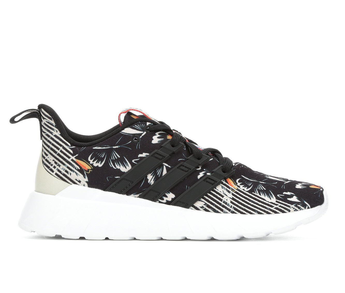 Women's Adidas Questar Flow Sneakers Blk/Wht/Multi