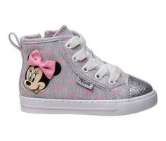 Girls' Disney Toddler & Little Kid Minnie Mouse Bow High Top Sneakers