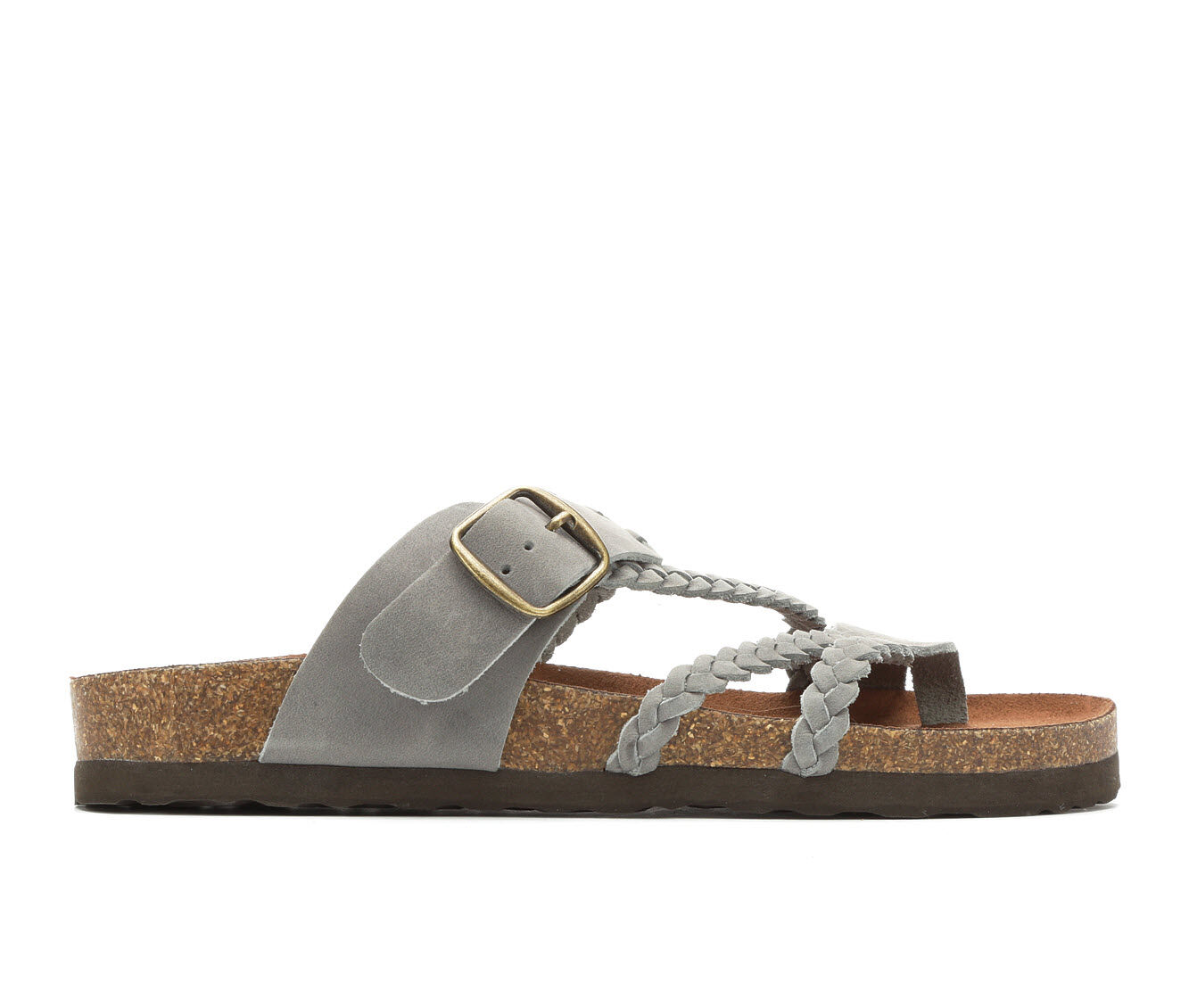 Women's White Mountain Hayleigh Strappy Footbed Sandals Light Blue