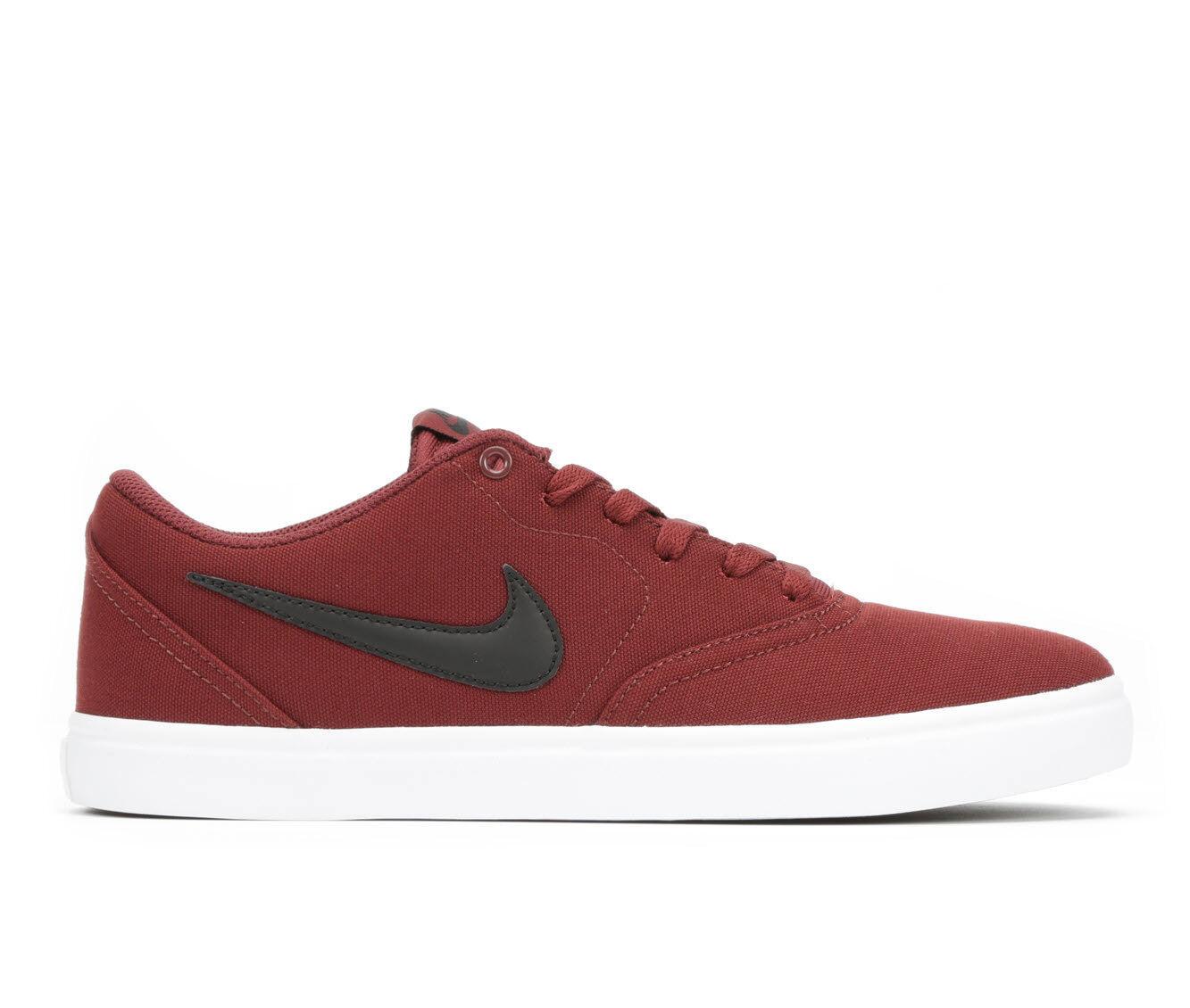 Nike SB Portmore II Burgundy & White Skate Shoes | NIKE SB