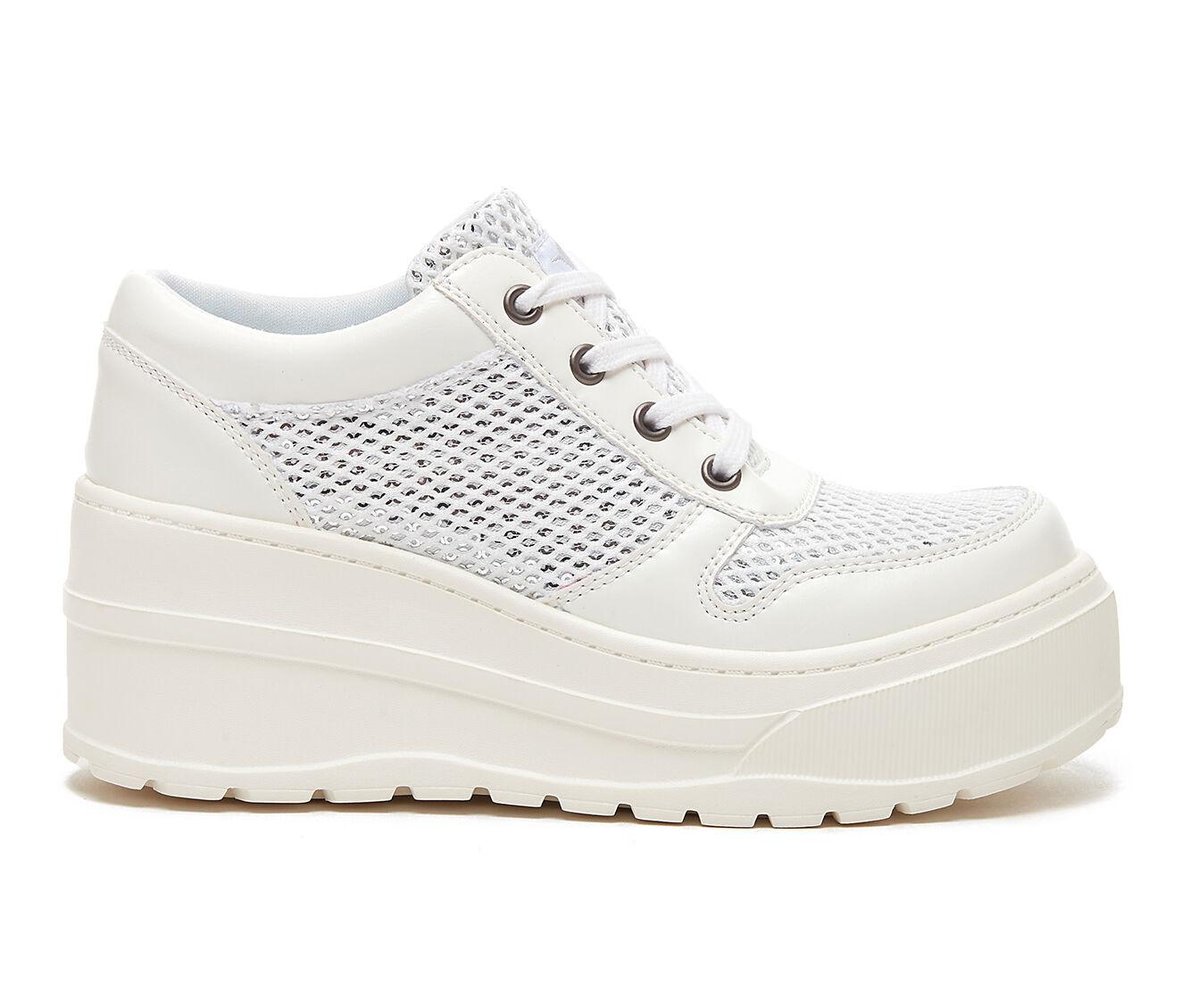 Women's Rocket Dog Cosmic Platform Sneakers White Smooth