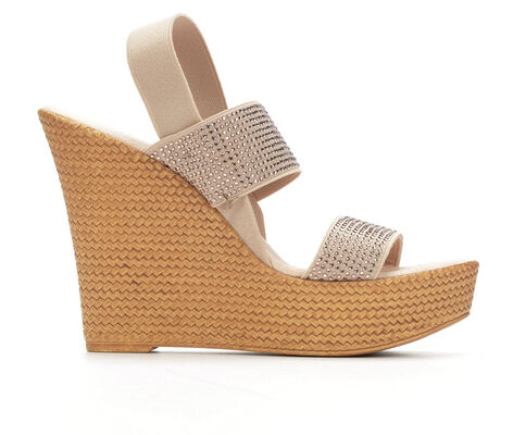 Women's Italian Shoemakers Savy Ultra-High Wedge Sandals