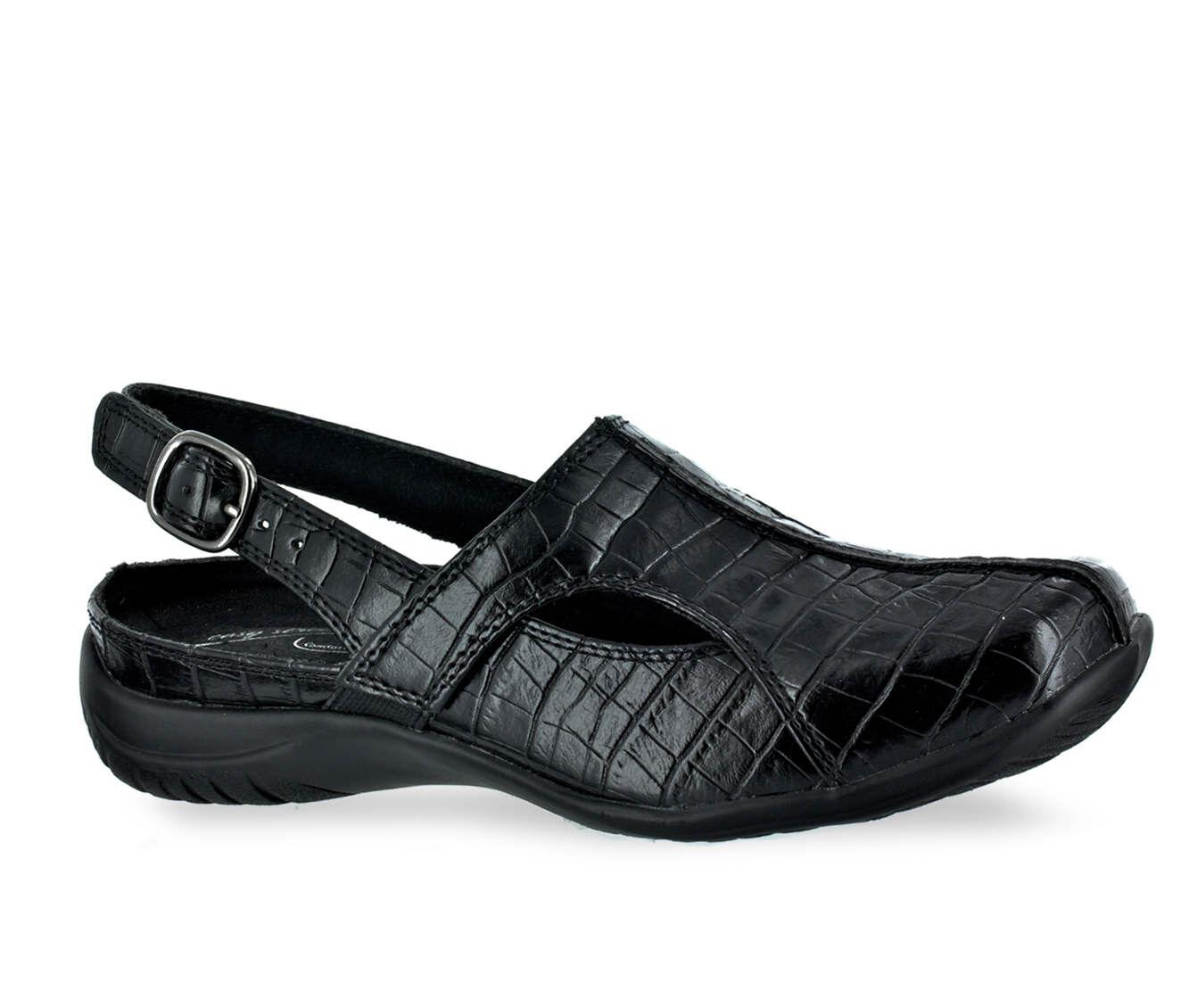Women's Easy Street Sportser Shoes Black Croco