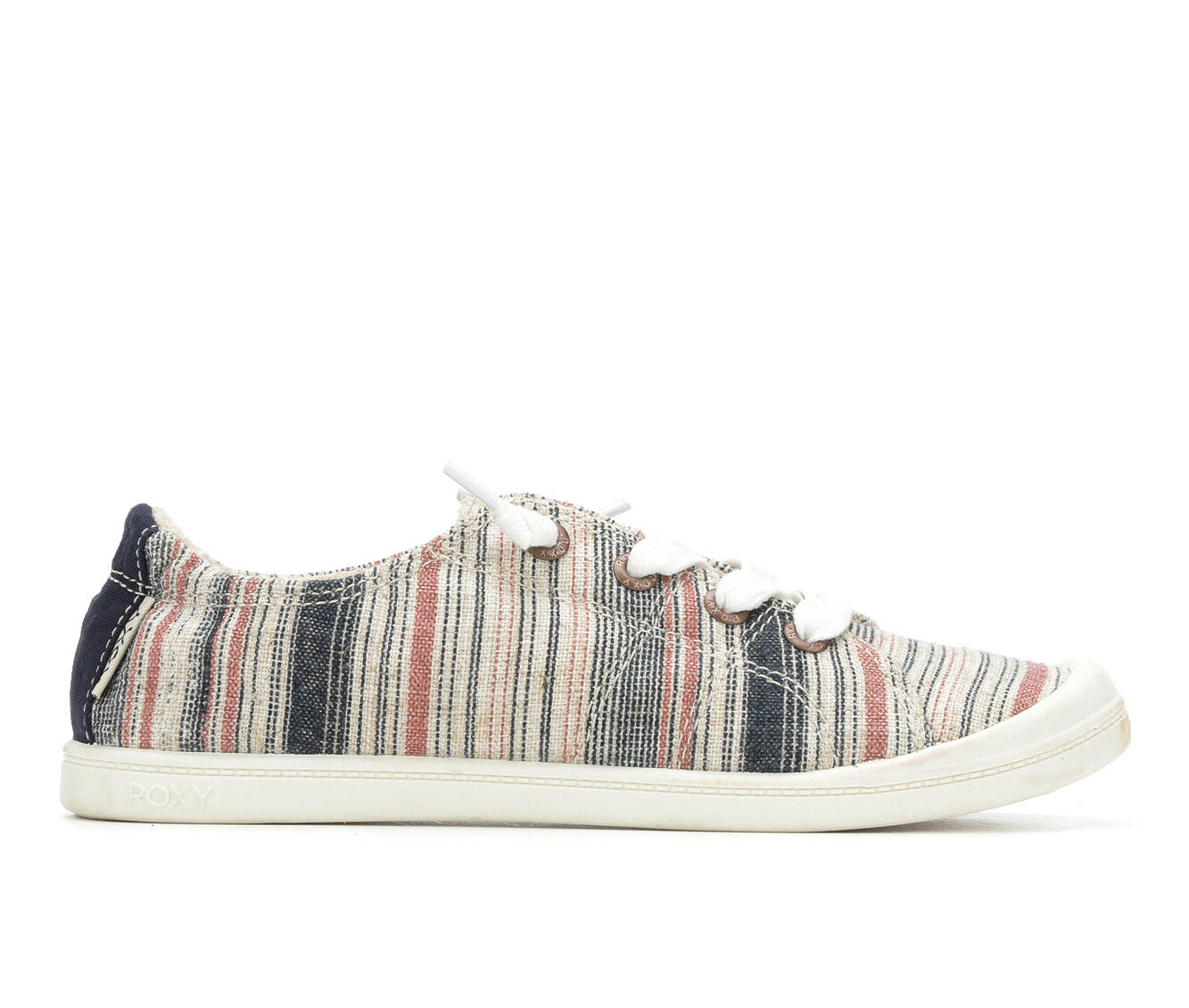 choose cheap authentic Women's Roxy Bayshore Sneakers Navy Stripe 2