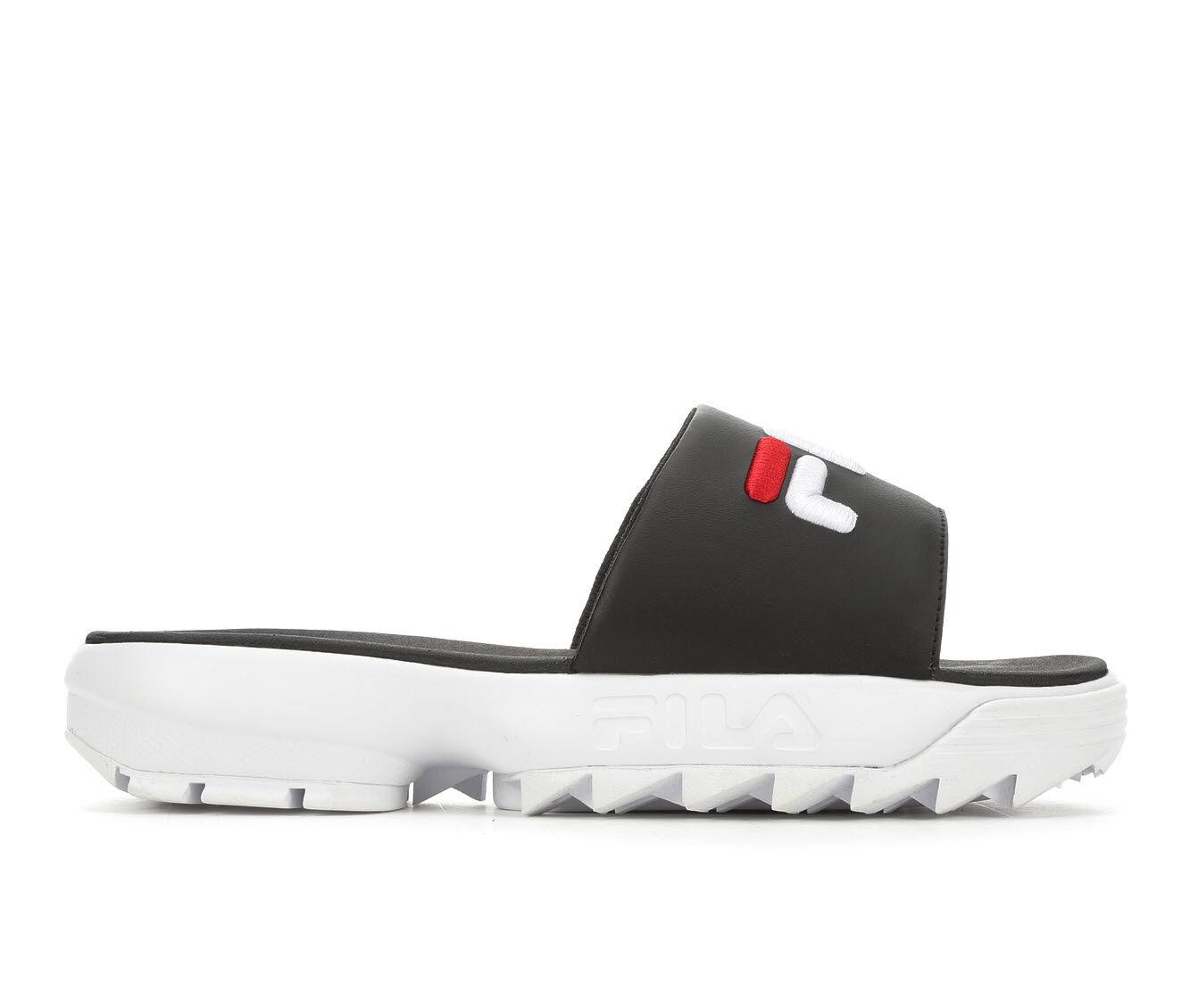 Women's Fila Disruptor Bold Slide Flatform Sandals Black/White/Red