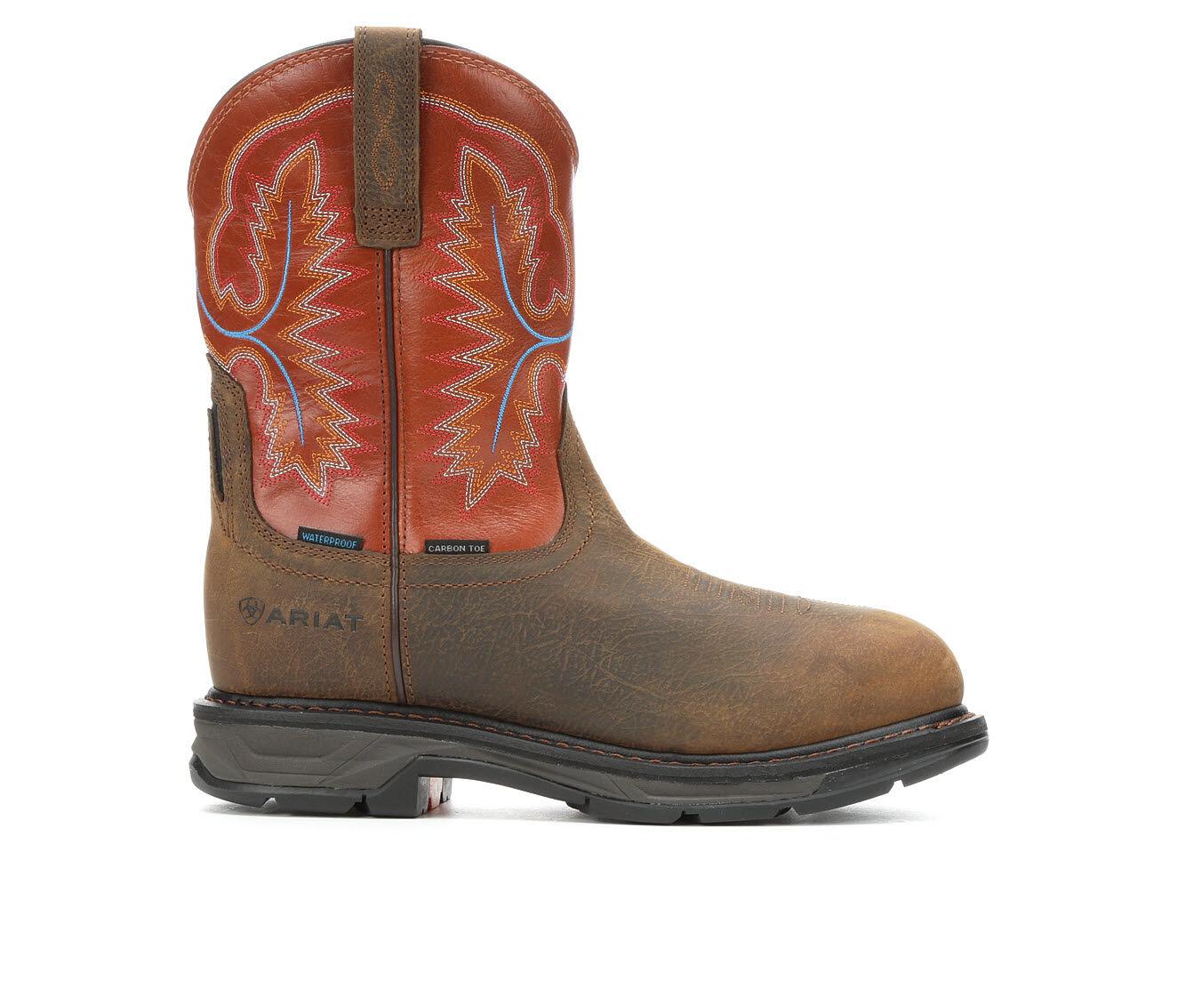 Men's Ariat Workhog XT Carbon Toe Cowboy Boots Rye Brown/Buck