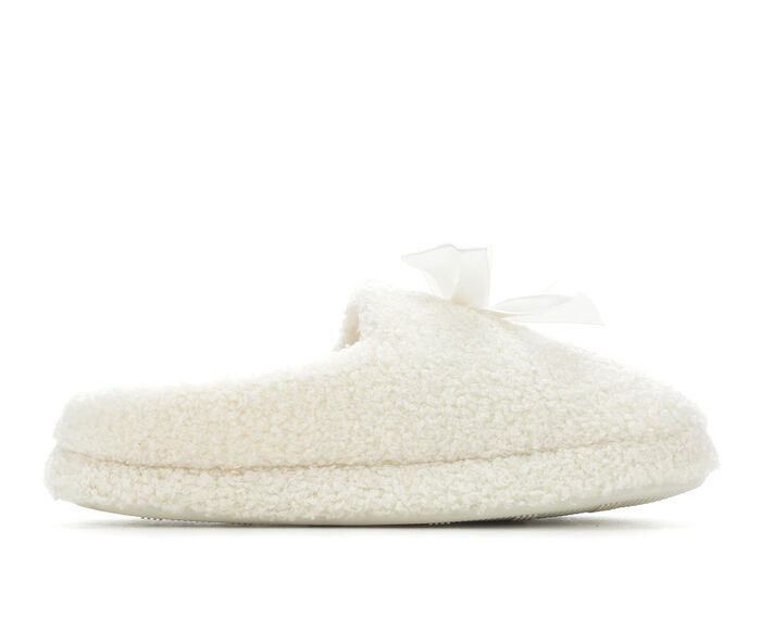 Jessica Simpson Sherpa Clog with Satin Bow Slippers