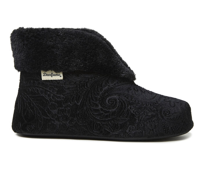 Dearfoams Sadie Embossed Velour Bootie
